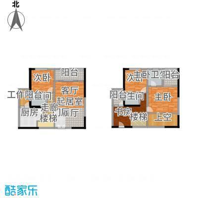 华贸中心3号楼户型4室2卫1厨