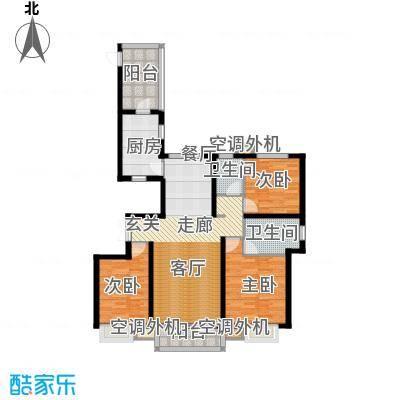 河北国际商会广场135.00㎡三室两厅两卫户型3室2厅2卫