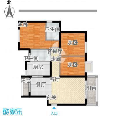 万科悦城户型3室1厅2卫1厨