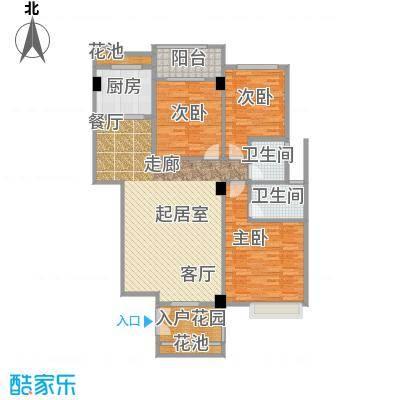 华港财富港湾139.36㎡2#楼E1单元 约139.36㎡户型3室2厅2卫