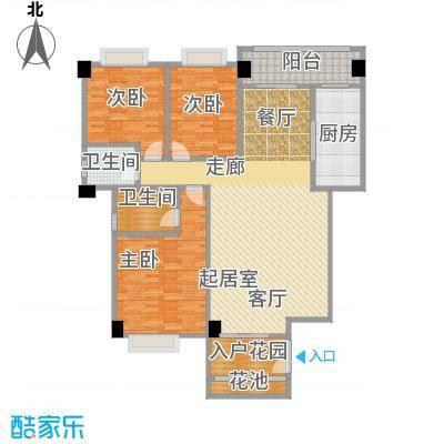 华港财富港湾144.76㎡2#楼D1单元 约144.76㎡户型3室2厅2卫