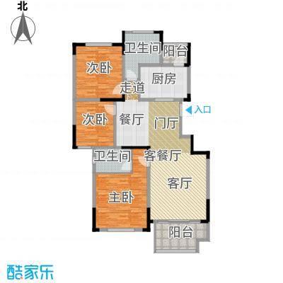 佳兆业玖珑山130.00㎡10号楼中间套户型3室2厅2卫