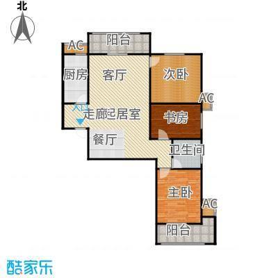 钟秀花园户型图A户型3室2厅1卫