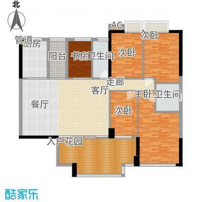帝�东方169.00㎡【御峰】墅景官邸户型5室2厅2卫