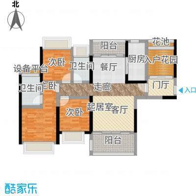 江湾公馆120.00㎡A户型120-121㎡ 3+1房2厅2卫户型3室2厅2卫