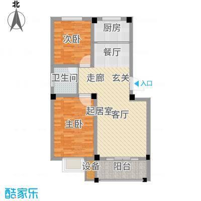 兴业金海花园76.00㎡A户型2室2厅1卫