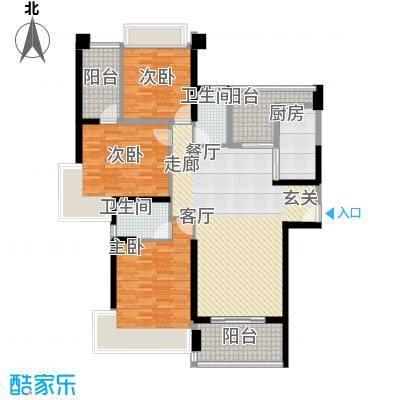 中澳滨河湾139.00㎡J101、03户型偶数层户型3室2厅2卫