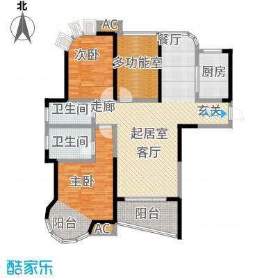 百商悦澜山CC户型2室2卫1厨