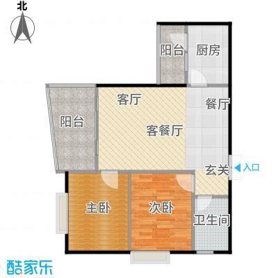 远大生态风景户型2室1厅1卫1厨