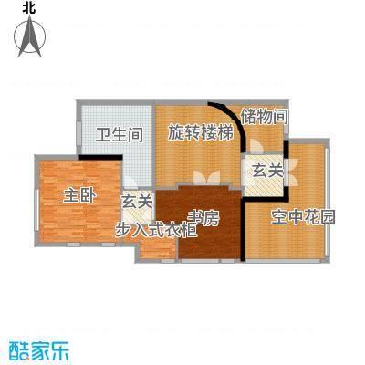 钱塘梧桐燕庐126.28㎡B-2三层户型10室