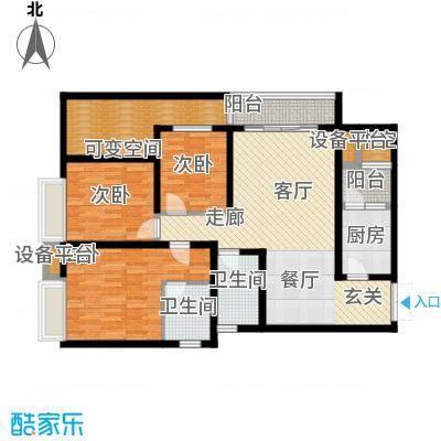 国际花园户型3室1厅2卫1厨