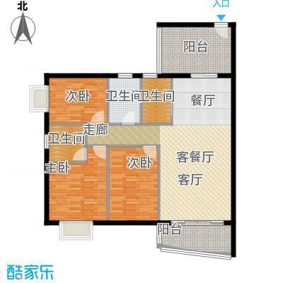 皇龙新城祥和苑户型3室1厅3卫