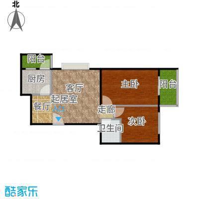 东润花园78.50㎡东润花园16#A户型2室2厅1卫