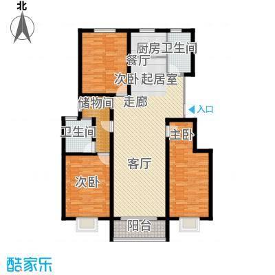 中和盛景147.96㎡三室两厅两卫户型3室2厅2卫