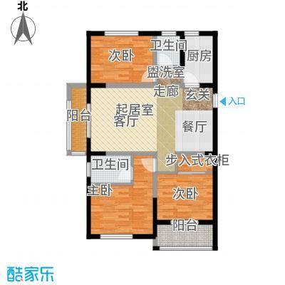 金榜龙城户型3室2卫1厨