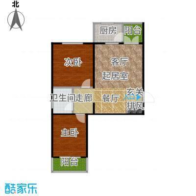 东润花园94.59㎡东润花园21#A户型2室2厅1卫