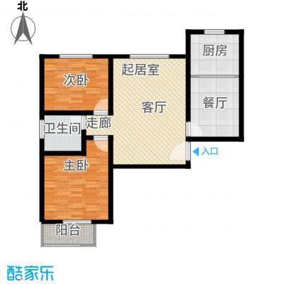 中和盛景91.38㎡二室二厅一卫户型2室2厅1卫
