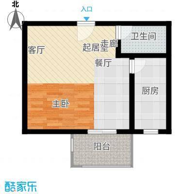 中和盛景50.99㎡一室一厅一卫户型1室1厅1卫