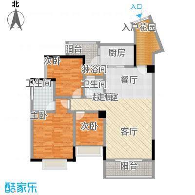 新世界曦岸114.00㎡F1户型3房2厅2卫户型3室2厅2卫