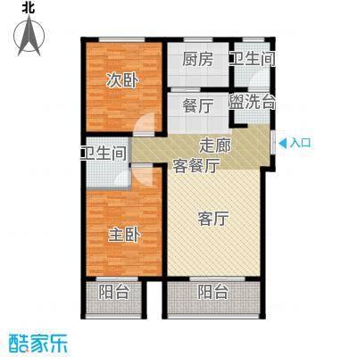 玫瑰湾105.04㎡4号楼d户型2室1厅2卫1厨