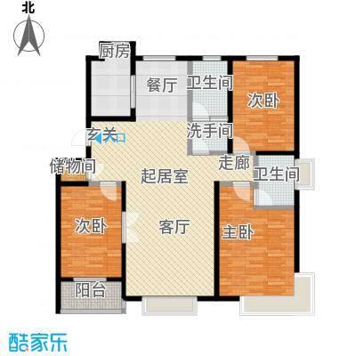 紫阙台3室2厅2卫138.57平米户型3室2厅2卫CC