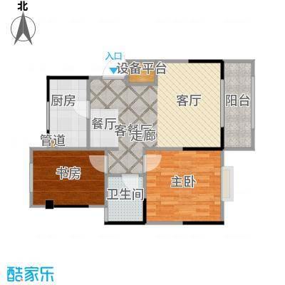 盛锦华庭户型2室1厅1卫1厨