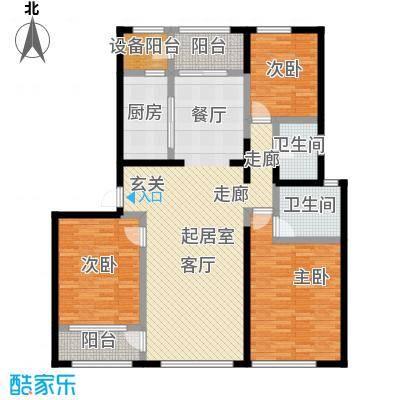 佳木公园198156.39㎡佳木户型单A1C8栋0303-01户型3室2厅2卫