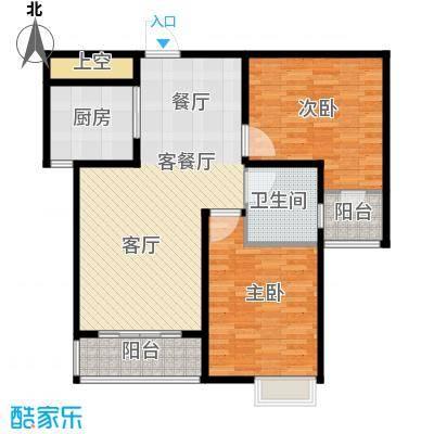 玫瑰湾91.04㎡5号楼B户型2室1厅1卫1厨
