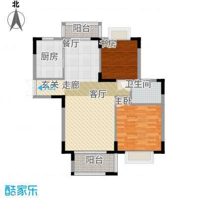 东方威尼斯A7栋B户型 94.81㎡户型2室2厅1卫