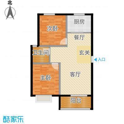 五洲国际官邸72.62㎡9102--户型2室2厅1卫