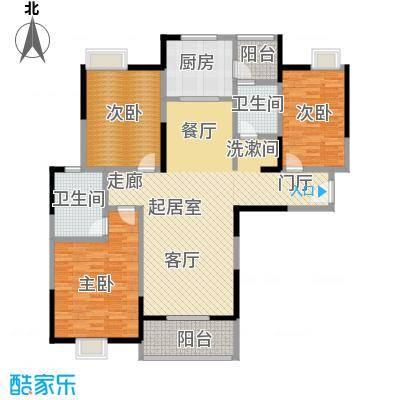 金地雄楚1号133.00㎡A-3户型3室2厅2卫