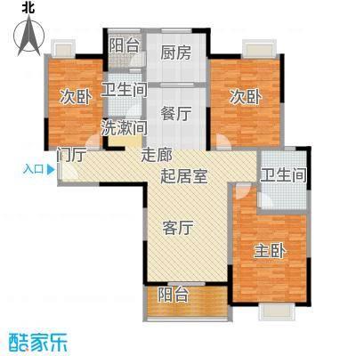 金地雄楚1号133.00㎡A-1户型3室2厅2卫