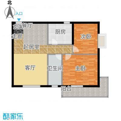 龙湾一品95.86㎡清新雅韵户型2室2厅1卫