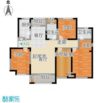 国金怡桂苑159.76㎡C1户型4室2厅2卫