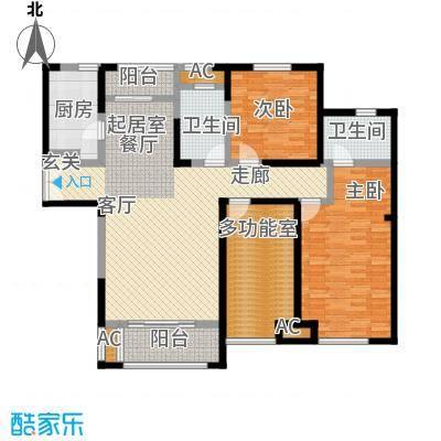 国金怡桂苑141.17㎡C户型3室2厅2卫