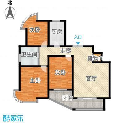紫麟苑户型3室1厅1卫1厨