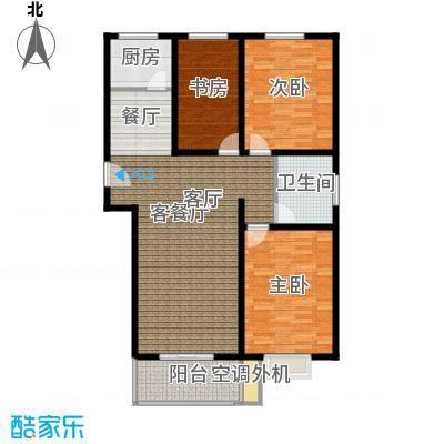恋日晴园3室2厅1为 106.3m²户型3室2厅1卫