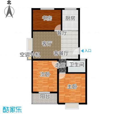 恋日晴园3室2厅1为 103.1m²户型3室2厅1卫