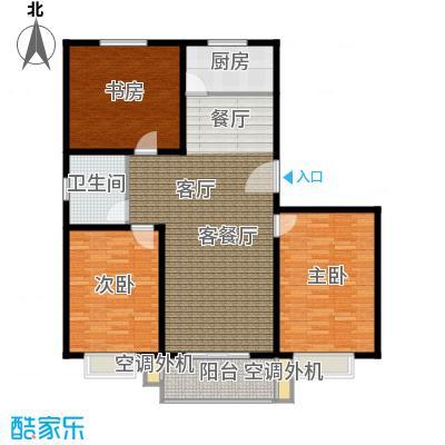 恋日晴园3室2厅1为 120m²户型3室2厅1卫