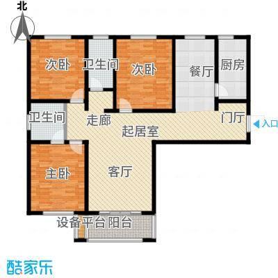 香榭丽都户型3室2卫1厨