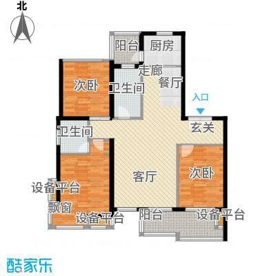 新凯御景湾1/2号楼C户型3室1厅2卫1厨