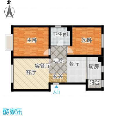 中国城建伦敦公元中国城建伦敦公元G5户型图2室2厅1卫1厨户型2室2厅1卫