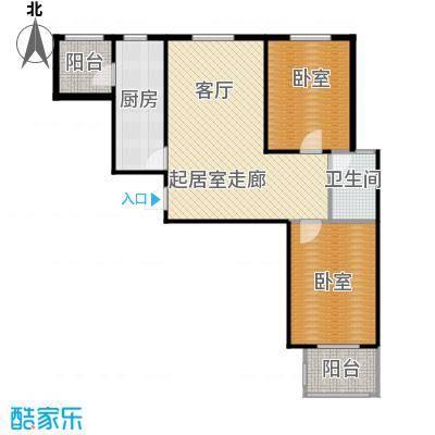 凌透花园2期二室二厅一卫户型2室2厅