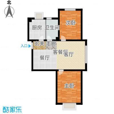中国城建伦敦公元中国城建伦敦公元G4户型图2室2厅1卫-93.00㎡户型2室2厅1卫