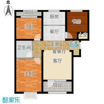 石家庄兰亭105.27㎡C4 三室两厅一卫户型3室2厅1卫