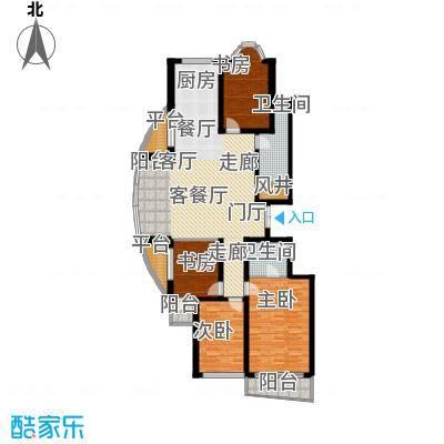 金花园168.00㎡四室两厅两卫户型
