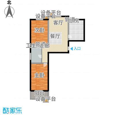 怡安嘉园2室2厅1卫 105.50平米户型2室2厅1卫
