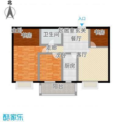 中富阳光景苑2号楼2户型103平户型