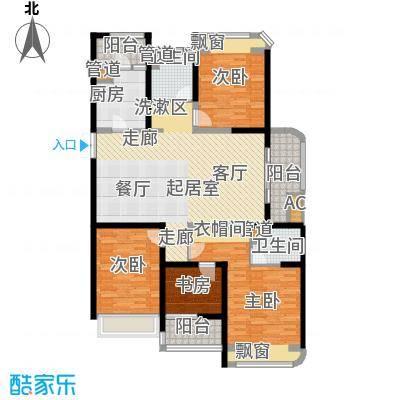 颐景御府140.00㎡帝景D1 4室2厅2卫户型4室2厅2卫
