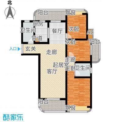 颐景御府132.00㎡天籁C1 3室2厅2卫户型3室2厅2卫